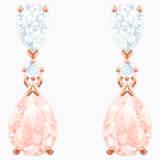 Vintage bedugós fülbevaló, rózsaszín, rozéarany árnyalatú bevonattal - Swarovski, 5466888