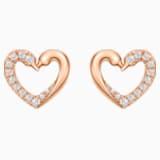真爱之吻18K玫瑰金钻石耳环 - Swarovski, 5468485