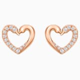 18K RG Dia Kissing Swans Petit Earrings - Swarovski, 5468485