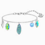 Organic Bracelet, Multi-colored, Rhodium plated - Swarovski, 5470515
