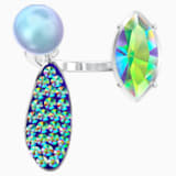 Organic Motif Ring, Multi-coloured, Rhodium plated - Swarovski, 5470518