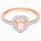 Prsten One, vícebarevný, pozlacený růžovým zlatem - Swarovski, 5470693