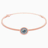 Oxygen Bangle, Gray, Rose-gold tone plated - Swarovski, 5470970