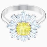 Napsugár gyűrű, sárga, ródium bevonatú - Swarovski, 5472481