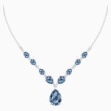 Collier Vintage, bleu, Métal rhodié - Swarovski, 5472614