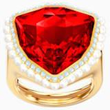 Lucky Goddess 鸡尾酒戒指, 红色, 镀金色调 - Swarovski, 5474552