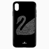 Etui na smartfona Swan Fabric z ramką chroniącą przed uderzeniem, iPhone® XS Max, czarne - Swarovski, 5474752