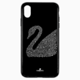 Swan Fabric Smartphone case with integrated Bumper, iPhone® XS Max, Black - Swarovski, 5474752