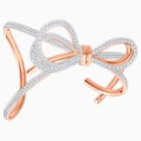 Manchette Lifelong Bow, blanc, Finition mix de métal - Swarovski, 5474925