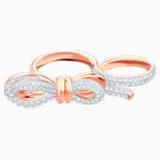 Anillo doble Lifelong Bow, blanco, Combinación de acabados metálicos - Swarovski, 5474926