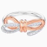 Anillo Lifelong Bow, mediano, blanco, Combinación de acabados metálicos - Swarovski, 5474931