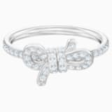Lifelong Bow Ring, Small, White, Rhodium plated - Swarovski, 5474936