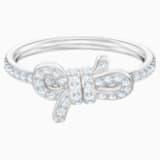 Lifelong Bow-ring, Klein, Wit, Rodium-verguld - Swarovski, 5474936