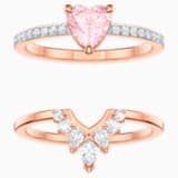 One Set, Multi-colored, Rose-gold tone plated - Swarovski, 5474938