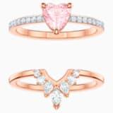 One Комплект, Многоцветный Кристалл, Покрытие оттенка розового золота - Swarovski, 5474939