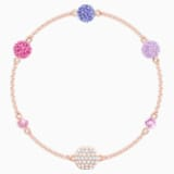 Swarovski Remix Collection Pop Strand, violet, Métal doré rose - Swarovski, 5479010