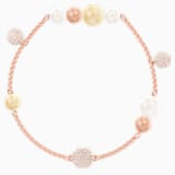 Swarovski Remix Collection Pearl Strand, 彩色设计, 镀玫瑰金色调 - Swarovski, 5479013