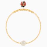 Swarovski Remix Collection Ladybug Strand, multicolor, Baño en tono Oro - Swarovski, 5479016