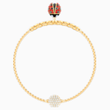 Swarovski Remix Collection Ladybug Strand, Multi-colored, Gold-tone plated - Swarovski, 5479018