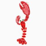 Ocean Lobster Single Clip Earring, Multi-colored, Rose-gold tone plated - Swarovski, 5479158