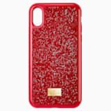 Glam Rock okostelefon tok, iPhone® X/XS, piros - Swarovski, 5479960