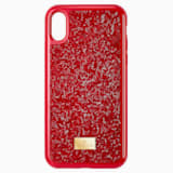 Pouzdro na chytrý telefon Glam Rock, iPhone® X/XS, červené - Swarovski, 5479960
