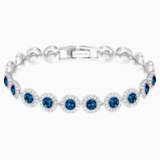 Bransoletka Angelic, niebieska, powlekana rodem - Swarovski, 5480484