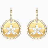 Boucles d'oreilles Ocean Sand Coin, blanc, métal doré - Swarovski, 5480783