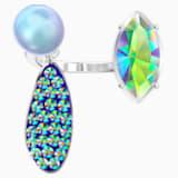 Organic Motif Ring, Multi-colored, Rhodium plated - Swarovski, 5481230