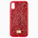 Étui pour smartphone Glam Rock, iPhone® XR, rouge - Swarovski, 5481449