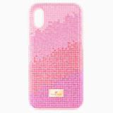 Pouzdro na chytrý telefon Love s ochranným okrajem, iPhone® XS Max, růžové - Swarovski, 5481464
