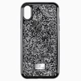 Custodia per smartphone con bordi protettivi Glam Rock, iPhone® XR, nero - Swarovski, 5482282