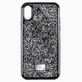 Pouzdro na chytrý telefon Glam Rock s ochranným okrajem, iPhone® X/XS, černé - Swarovski, 5482282