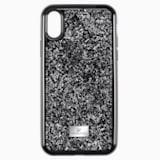 Etui na smartfona Glam Rock z ramką chroniącą przed uderzeniem, iPhone® XS Max, czarne - Swarovski, 5482283