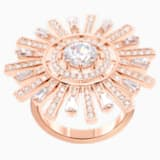 Sunshine Cocktail Ring, White, Rose-gold tone plated - Swarovski, 5482501