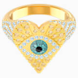 Lucky Goddess Heart Motif Ring, Multi-colored, Gold-tone plated - Swarovski, 5482532