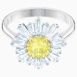 Sunshine Ring, Yellow, Rhodium plated - Swarovski, 5482701
