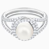 Originally Cocktail Ring, White, Rhodium plated - Swarovski, 5482715