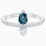 Anillo Vintage, azul, Baño de Rodio - Swarovski, 5482716