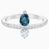 Vintage Ring, Blue, Rhodium plated - Swarovski, 5482716
