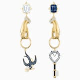 Tarot Magic Pierced Earrings, Multi-colored, Gold-tone plated - Swarovski, 5482975