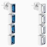Boucles d'oreilles drop Fluid Azzurro, bleu canard, Métal plaqué palladium - Swarovski, 5483202