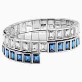 Bracelet enroulé Fluid Azzurro, bleu canard, Métal plaqué palladium - Swarovski, 5483217