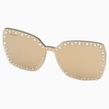 Připínací škraboška na sluneční brýle Swarovski, SK5330-CL 32G, hnědá - Swarovski, 5483809