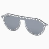 Swarovski Click-on Mask for Sunglasses, SK5329-CL 16C, Gray - Swarovski, 5483816
