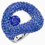 Tigris Ring, Blue, Palladium plated - Swarovski, 5483907