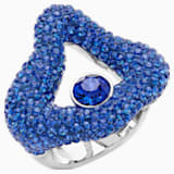 Tigris Open Ring, Blue, Palladium plated - Swarovski, 5483910