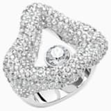 Tigris Open Ring, Grey, Palladium plated - Swarovski, 5483918