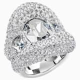Tigris Ring, Grey, Palladium plated - Swarovski, 5483925