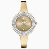 Crystal Rose Часы, Металлический браслет, Золотой Кристалл, PVD-покрытие золотого цвета оттенка шампанского - Swarovski, 5484045